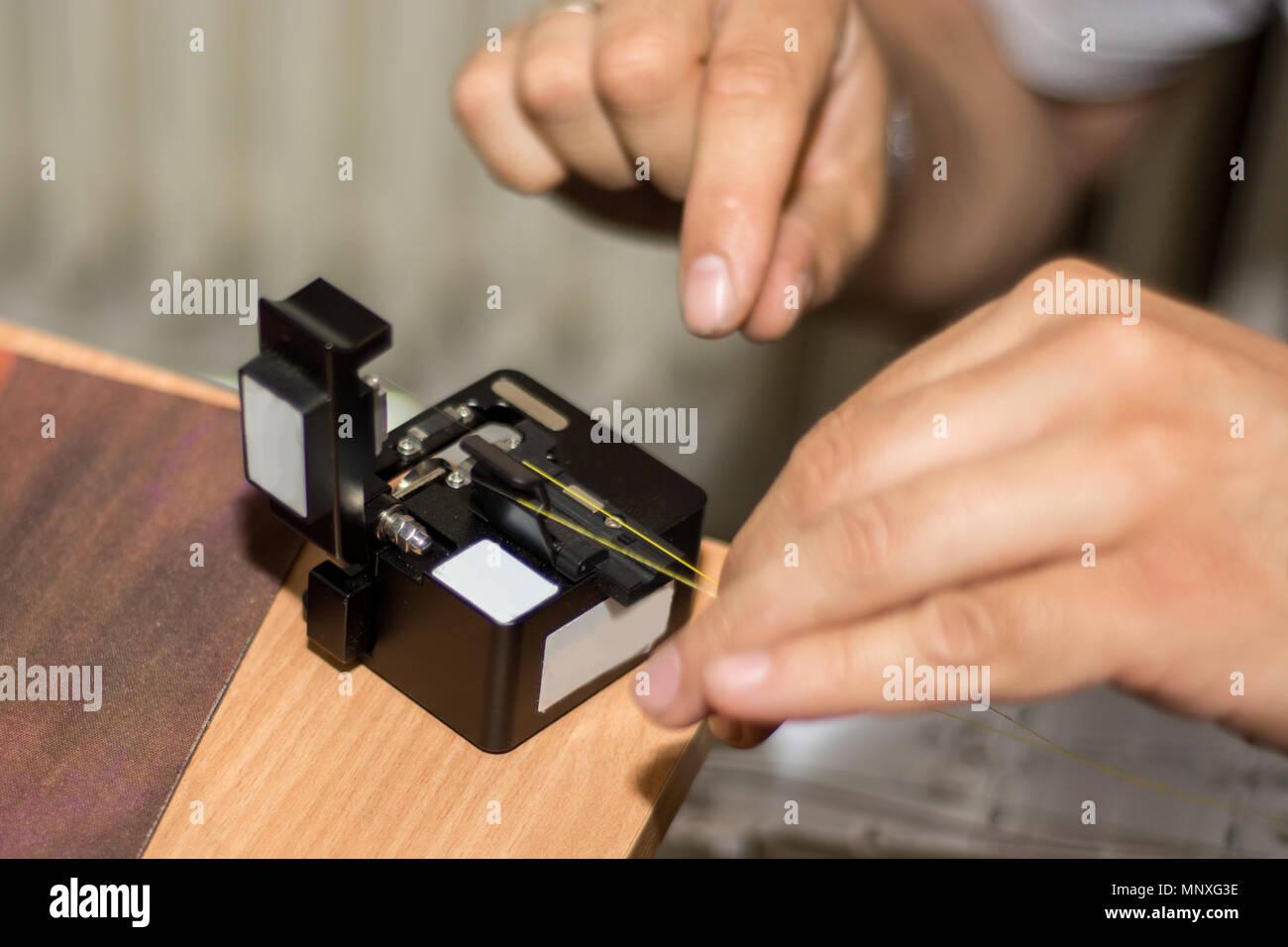 Fiber Optic Cables Stockfotos & Fiber Optic Cables Bilder - Alamy