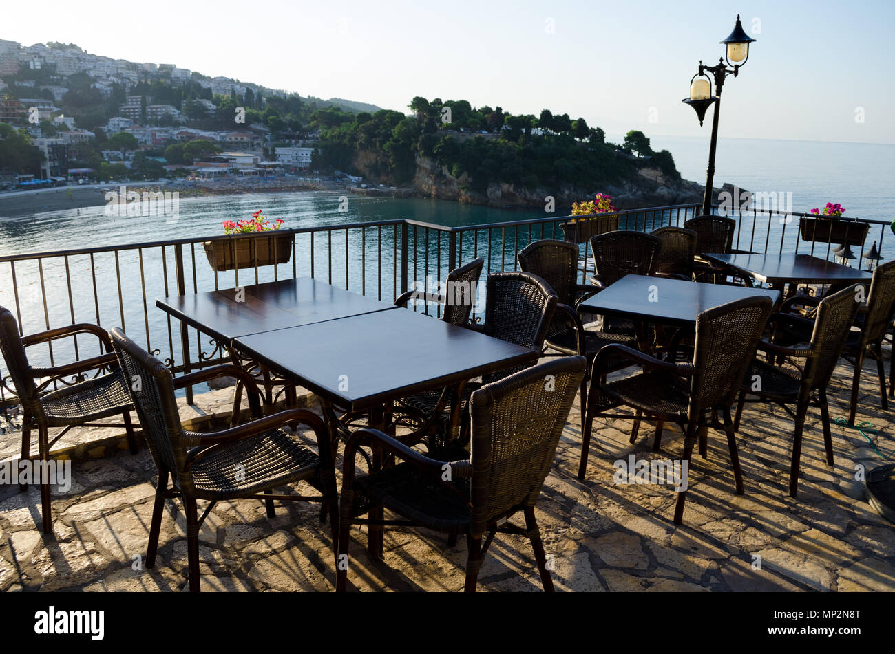 Mala Ulcinj Plaza Adriatic Beach Coast Montenegro Stockfotos & Mala ...