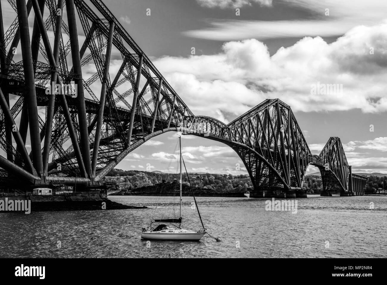 Forth Rail Bridge, North Queensferry, Schottland Stockbild