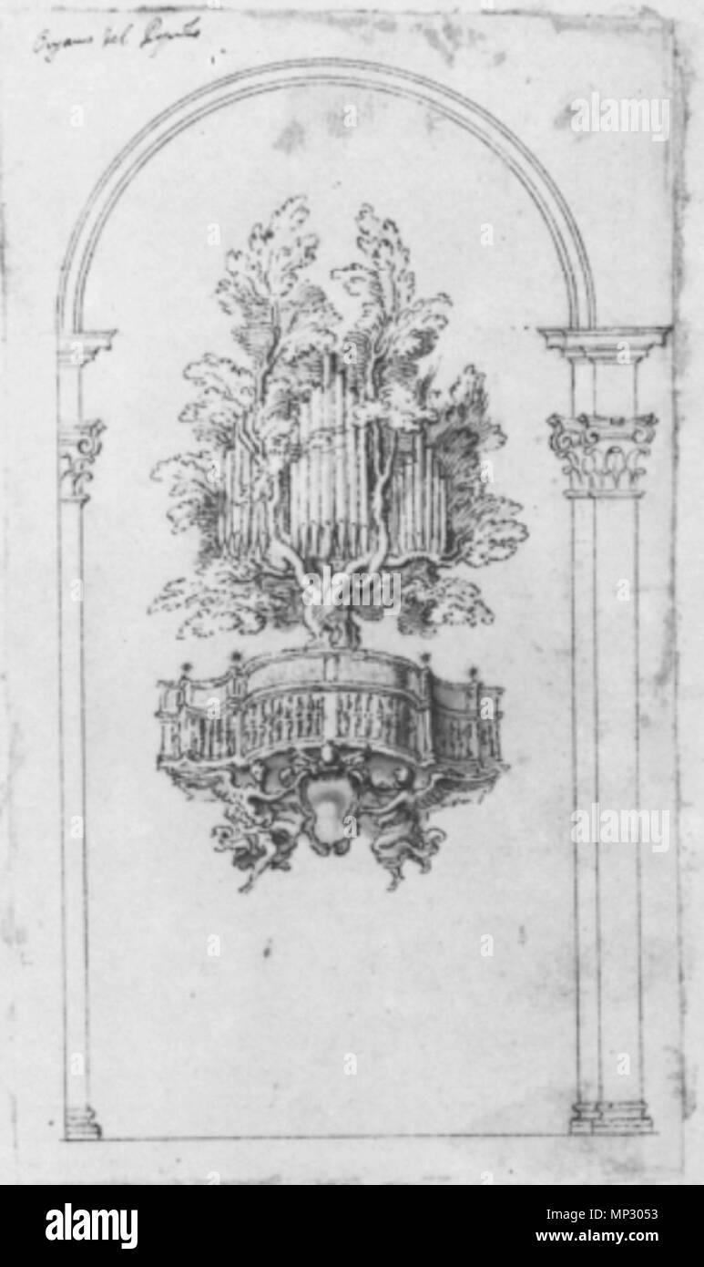 Englisch Der Zweite Entwurf Für Die Orgel Fall Von Santa Maria