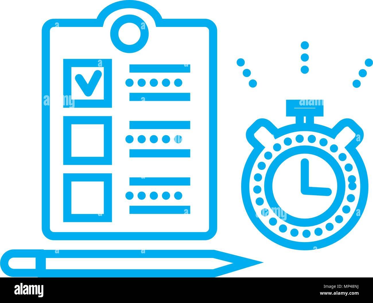 timing f r aufgaben lineare symbol konzept timing f r. Black Bedroom Furniture Sets. Home Design Ideas