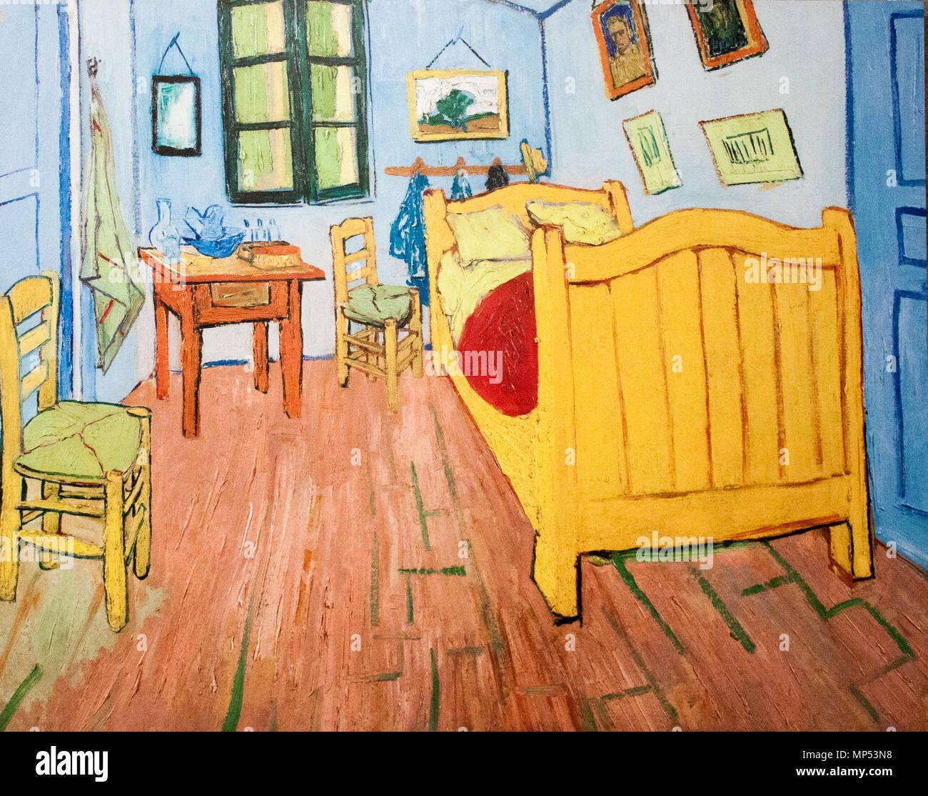 ... (Az Amszterdami Változat) Englisch: Schlafzimmer In Arles (Amsterdam))  Arles, Oktober 1888. 1238 Vincentu0027s Schlafzimmer In Arles (JH 1608)   Mein  Traum