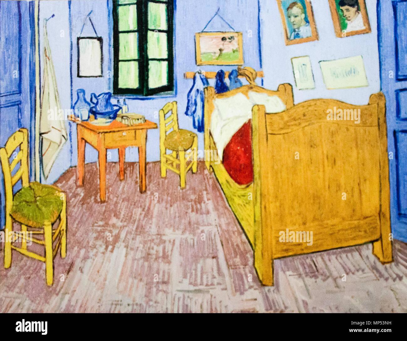 ... Hálószobája Arles Verbot (Az Párizsi Változat) Englisch: Schlafzimmer  In Arles (Paris) Arles, 1889. 1238 Vincentu0027s Schlafzimmer In Arles   Mein  Traum