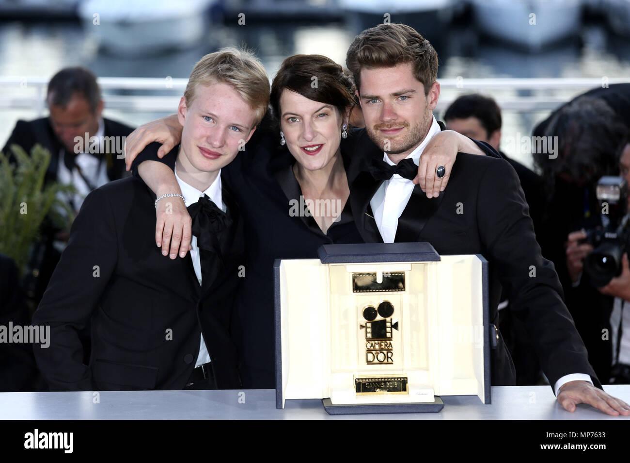 Cannes Frankreich 19 Mai 2018 Victor Polster Ursula Meier Und