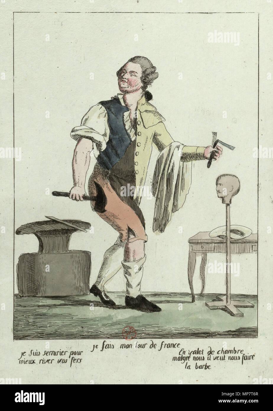 Français: Karikatur de Louis XVI lors de sa fuite à Varennes ...