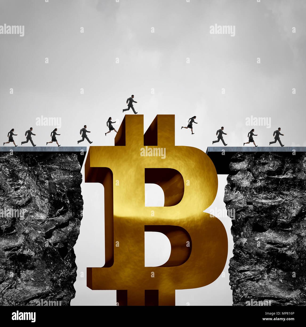 Bitcoin blockchain transfer Konzept und crypto Währung Gelegenheit Geschäftskonzept und cryptocurrency Lösung oder digitales Geld. Stockbild