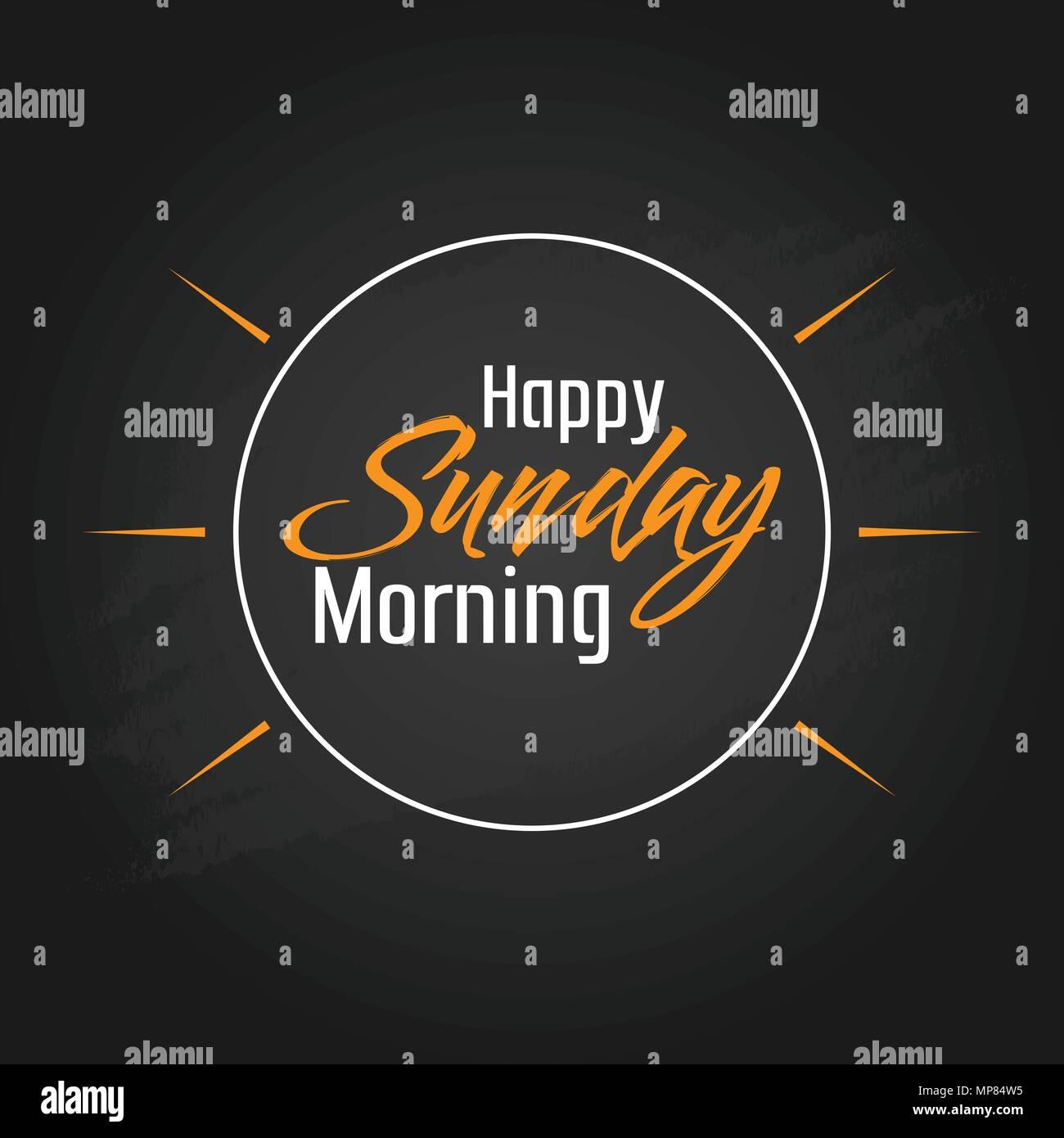 Schönen Sonntag Morgen Vector Template Design Vektor Abbildung
