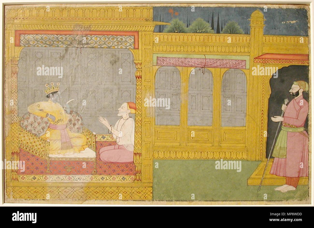 . Englisch: Serie Titel: Die Entführung von Rukmini aus dem alten Text des Herrn Suite Name: Rukmini Harana von Bhagavata Purana Erstellungsdatum: Ca. 1795 Display Abmessungen: 7 3/4 x 11 5/8 in. (19,7 cm x 29,5 cm) Kreditlinie: Edwin Binney 3 Sammlung Beitritt Artikelnummer: 1990.1322 Sammlung: <a href='Http://www.sdmart.org/art/our-collection/asian-art' rel='nofollow'> Die San Diego Museum der Kunst</a>. 6. September 2011, 14:32:19. Englisch: thesandiegomuseumofartcollection 776 Krishna Lesen der Nachricht von Rukmini (6125137408) Stockbild