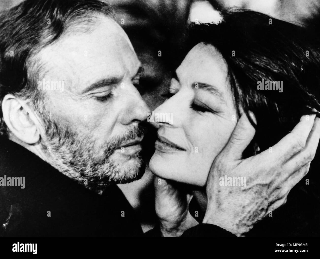 Anouk Aimee, Jean Louis trintignant, un uomo una donna oggi, 1986 Stockbild
