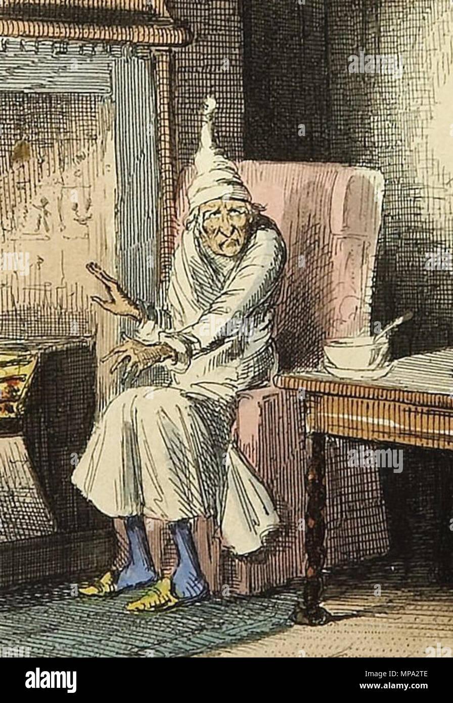 Scrooge aus Charles Dickens: A Christmas Carol. In der Prosa. Ein ...