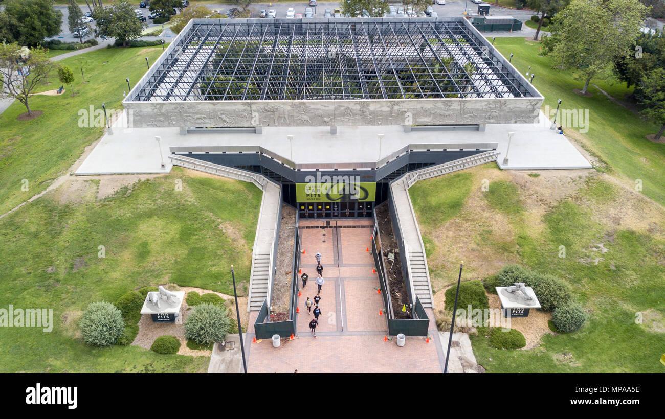 Die George C Seite Museum von La Brea Entdeckungen, La Brea Tar Pits, Los Angeles, Kalifornien Stockbild