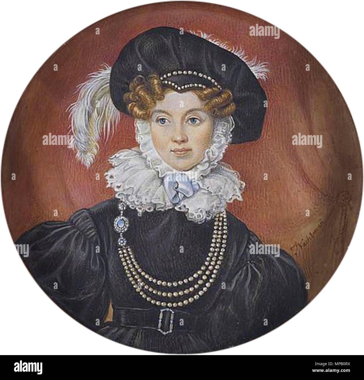 englisch: eine dame, mit schwarzen kleid mit bouffant Ärmel