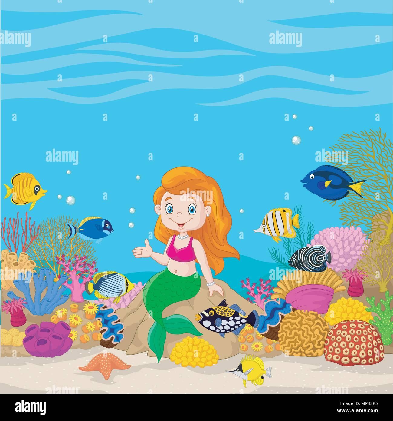 Ungewöhnlich Süße Meerjungfrau Färbung Zeitgenössisch ...