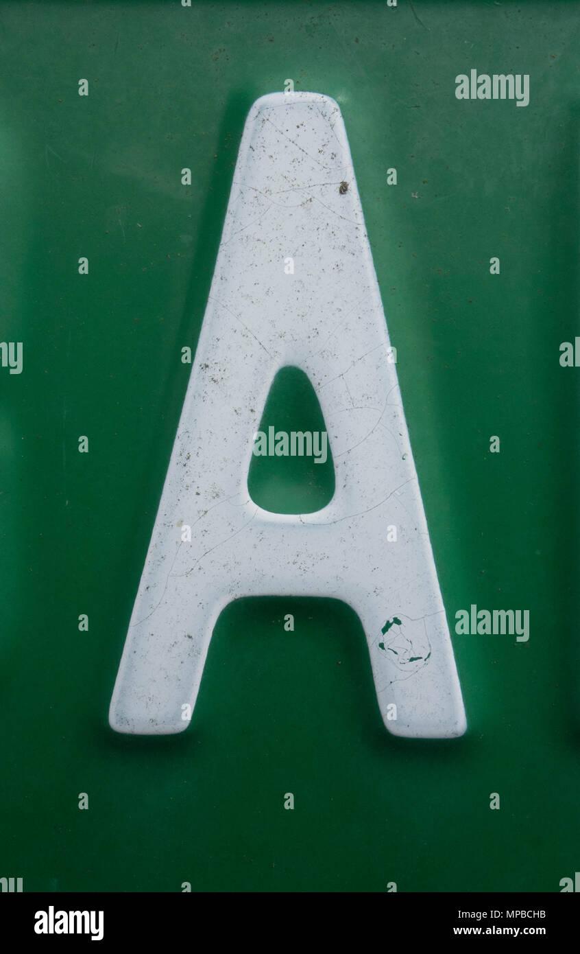 Formulierung In Distressed Zustand Typografie Gefunden Brief A