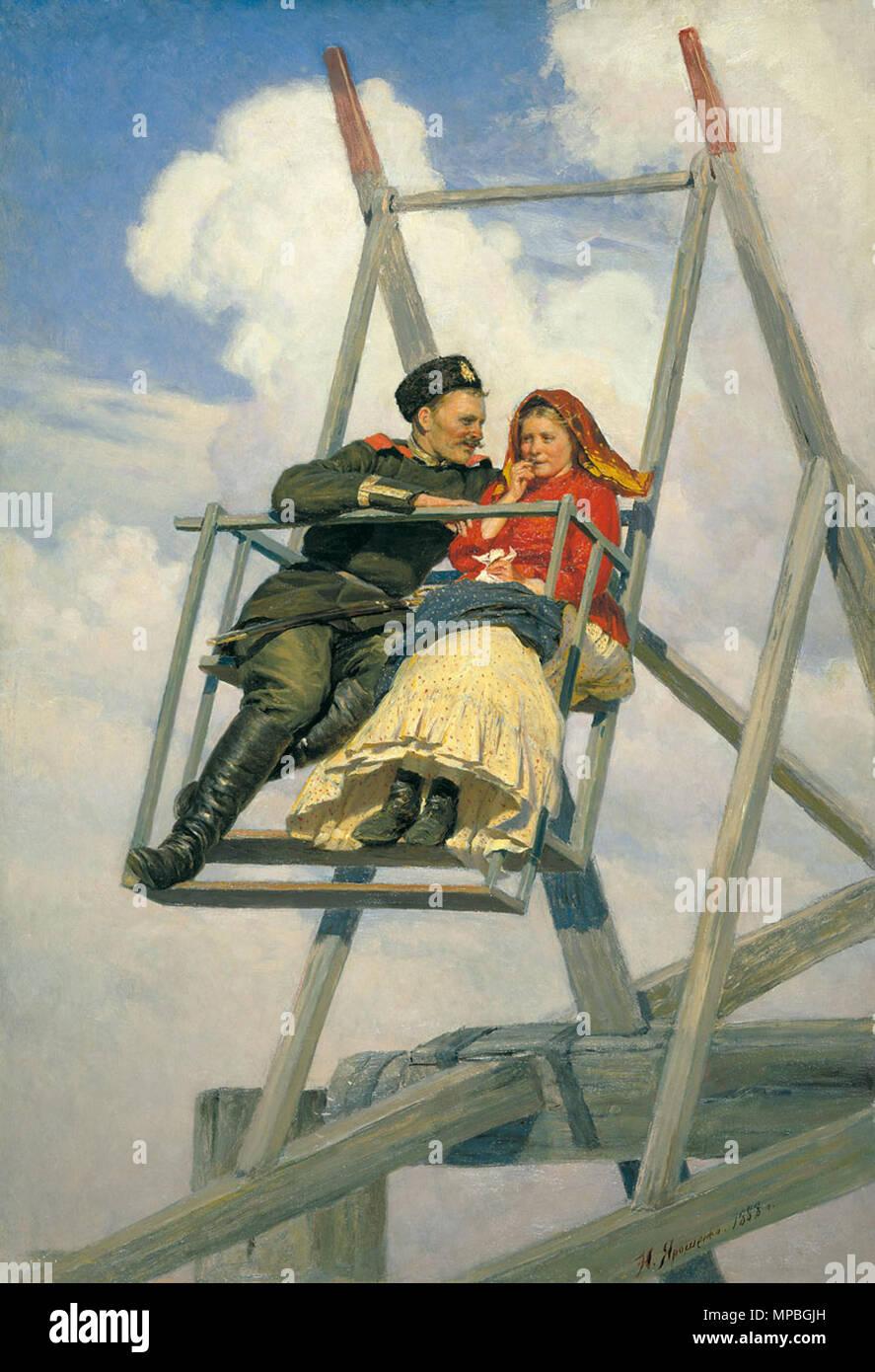 Russkij Na Kachelyah Englisch Auf Der Schaukel 1888 929 Nikolaj