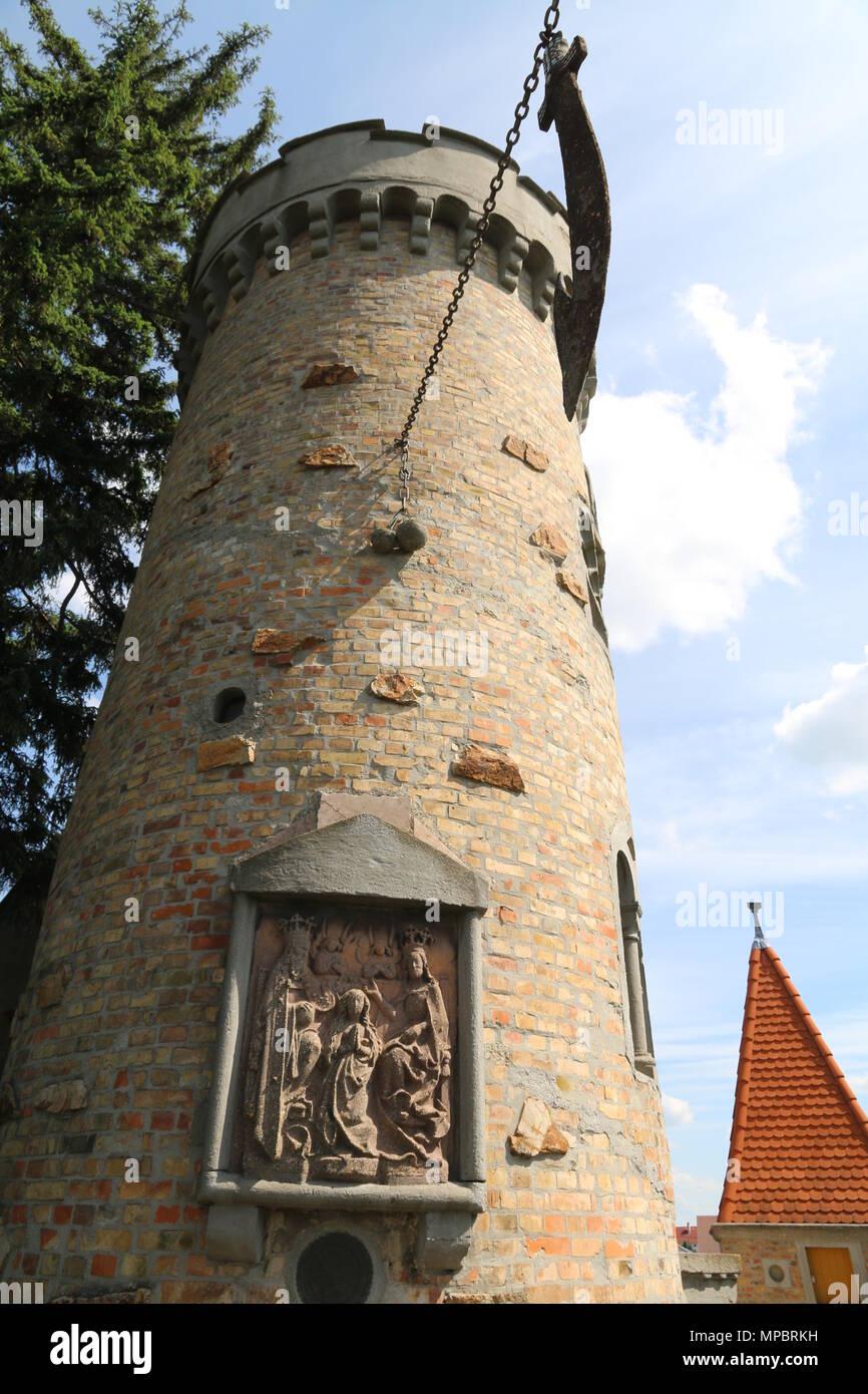 Die Frontansicht des Schlosses von Bory in Székesfehérvár, Ungarn Stockbild