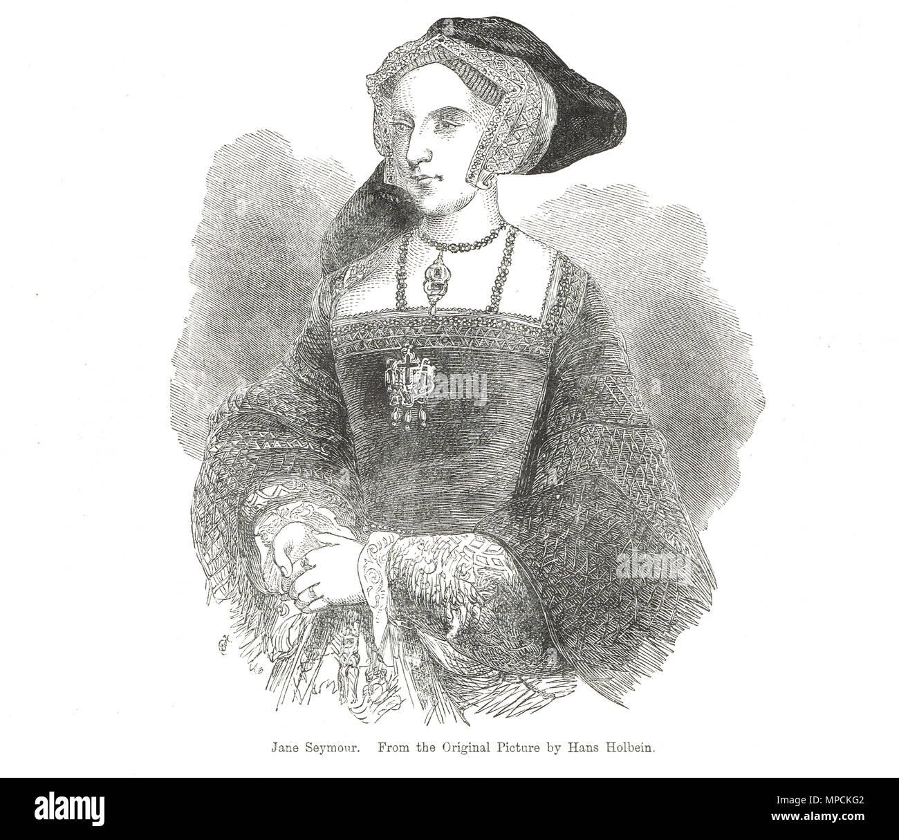 Jane Seymour, Königin von England als die dritte Frau von König Heinrich VIII. Stockbild