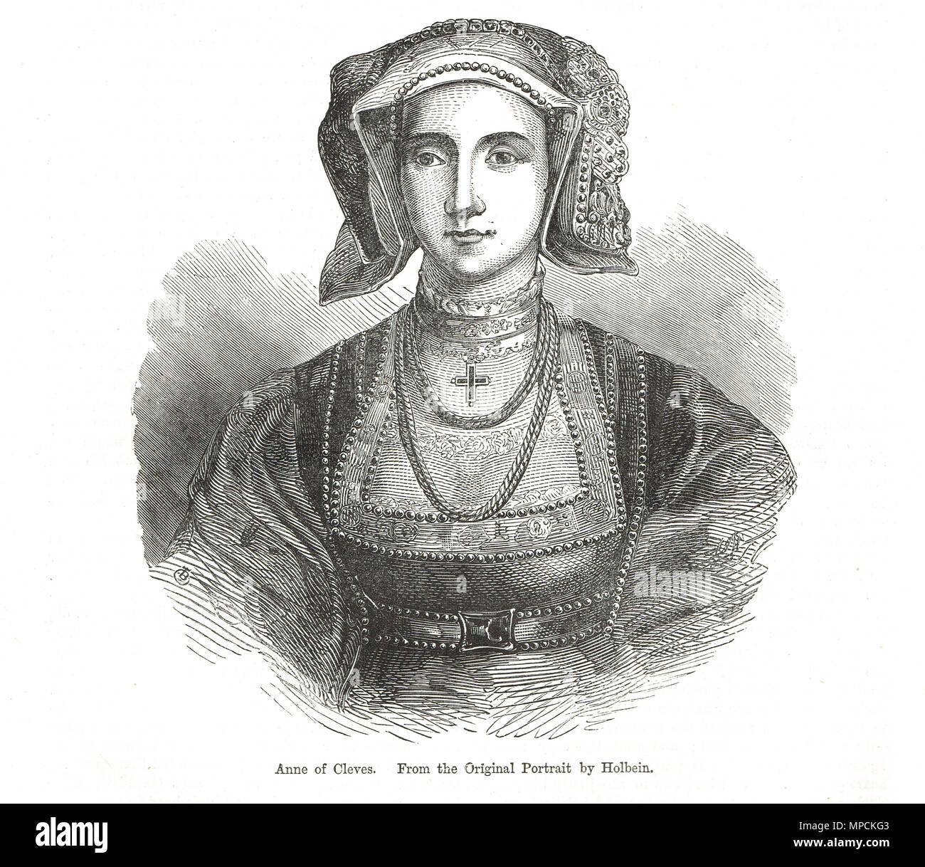Anna von Kleve, vierte Frau von König Heinrich VIII. Stockbild