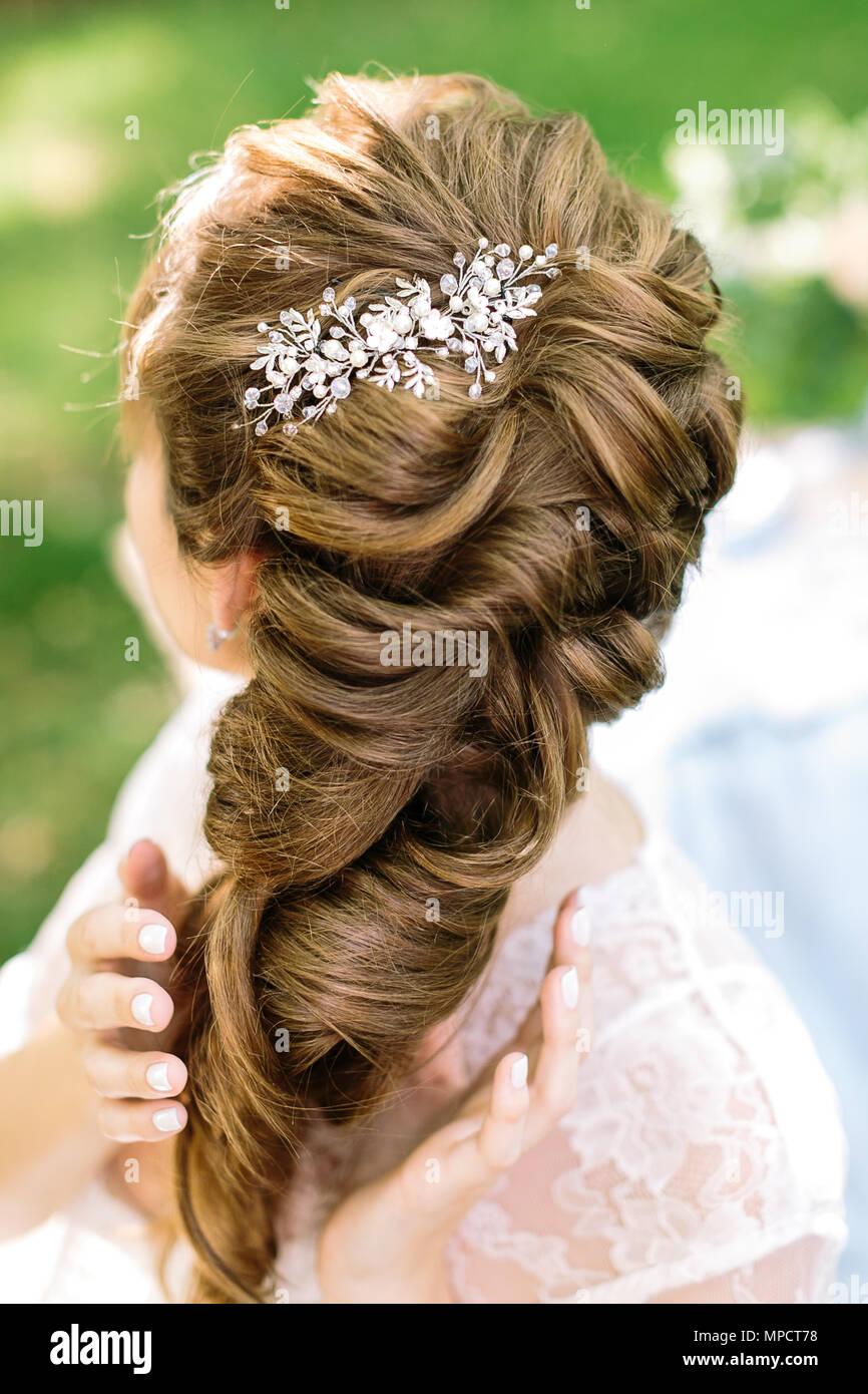 Stil Weiblichkeit Der Braut Frisur Concepr In Sanften Curly