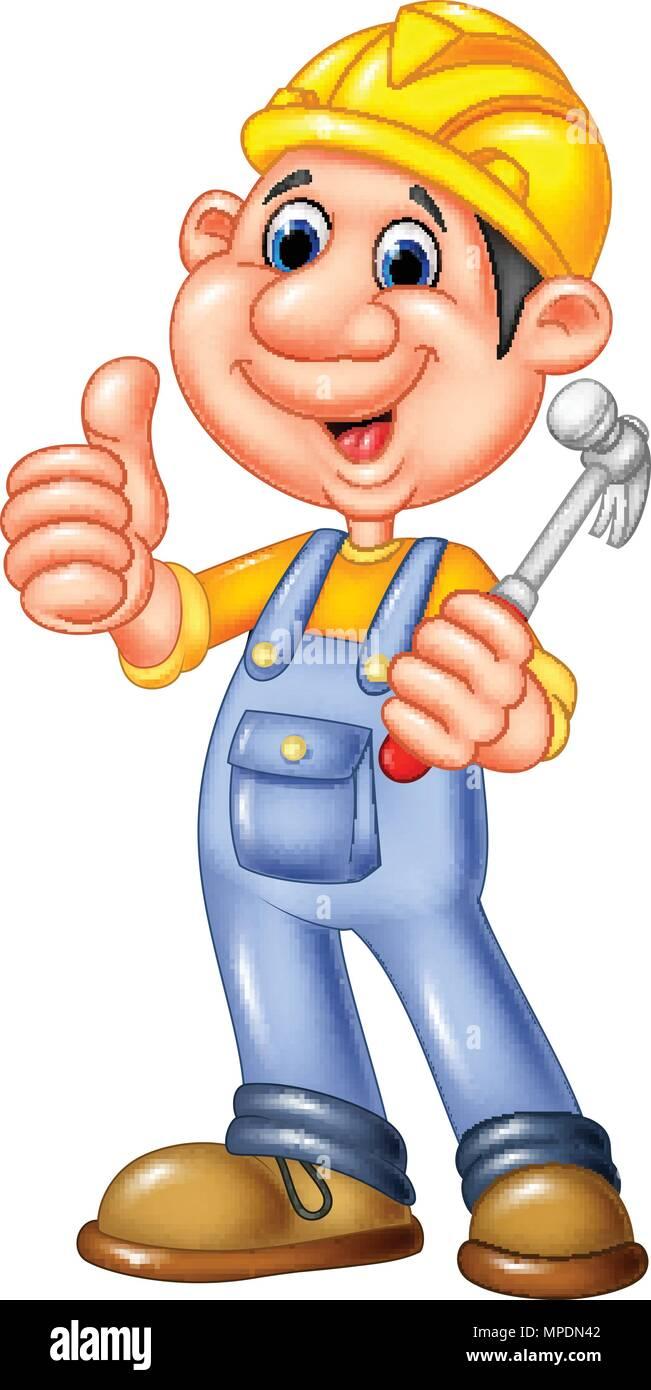 Cartoon Bauarbeiter Handwerker Vektor Abbildung Bild 185928066