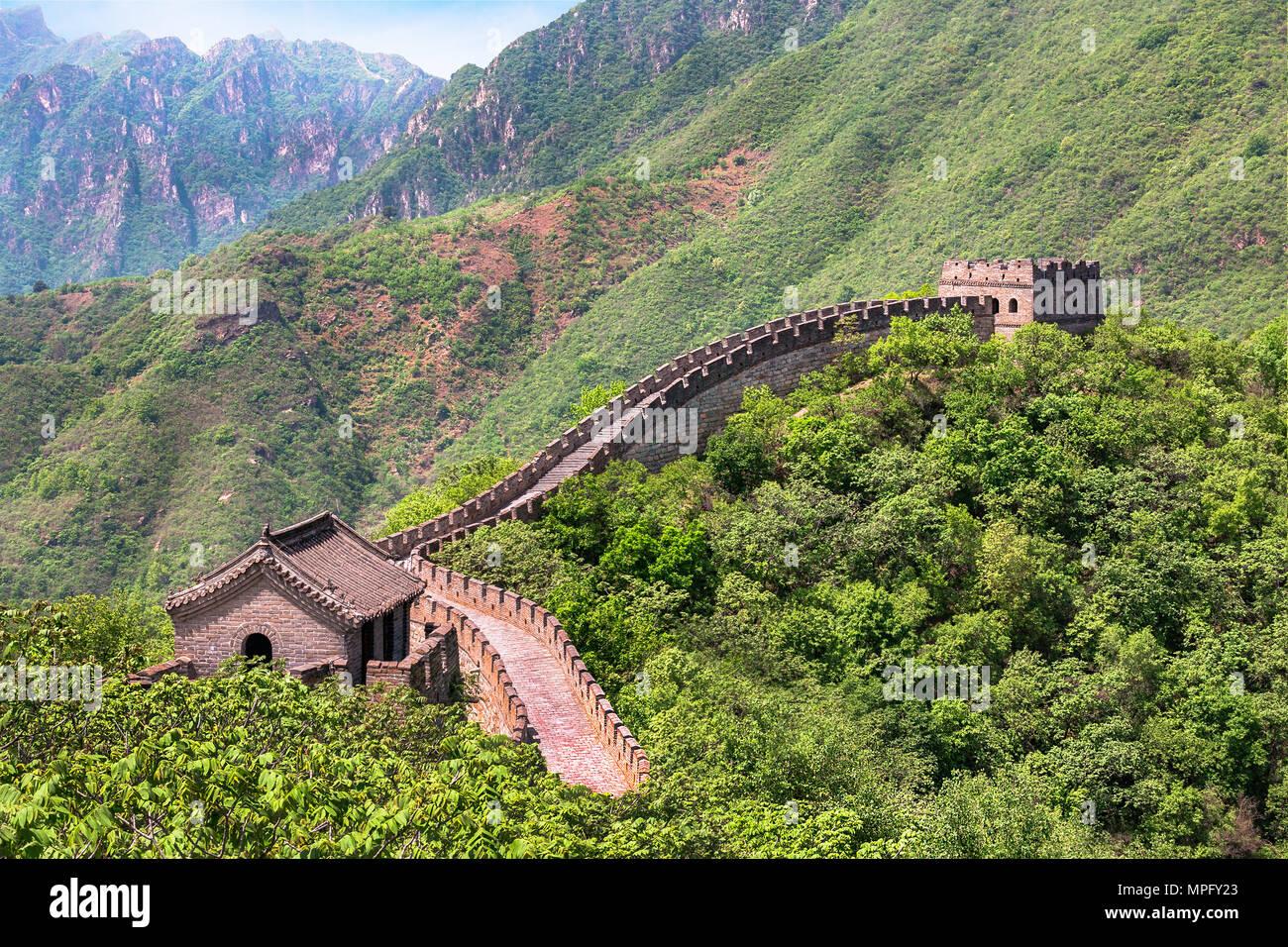 Die große Mauer von China Stockbild