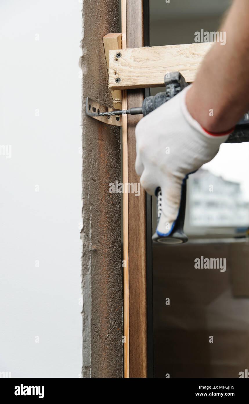 Door Frame Fix Stockfotos & Door Frame Fix Bilder - Alamy