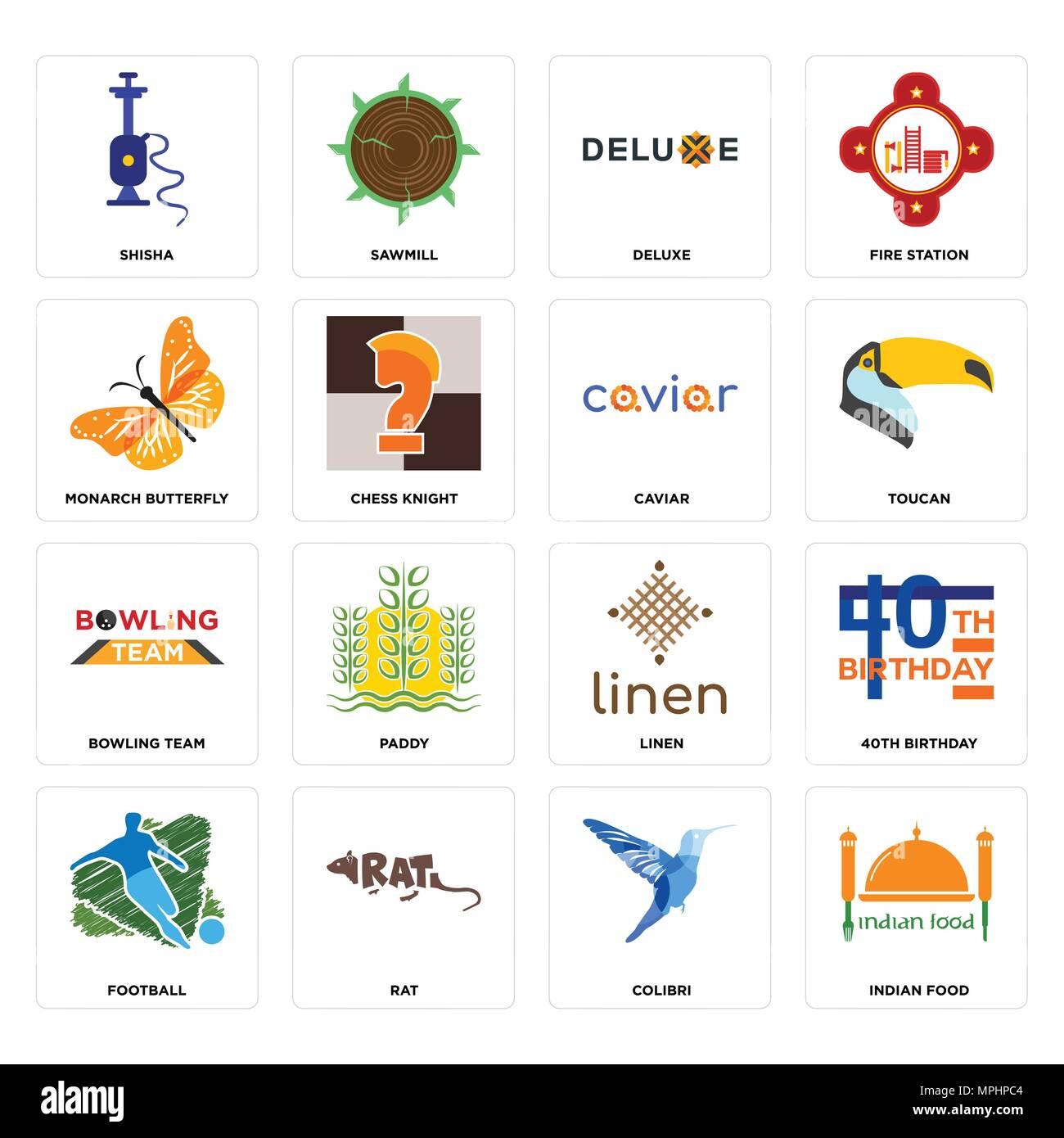 16 Einfache Editierbare Ikonen Wie Indisches Essen Colibri Ratte