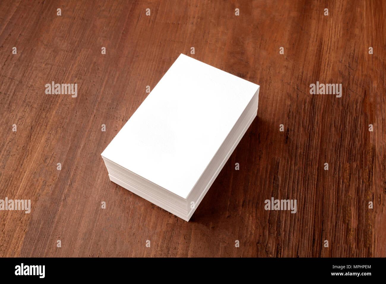 Ein Modell Für Einen Stapel Weiße Visitenkarten Auf Einem