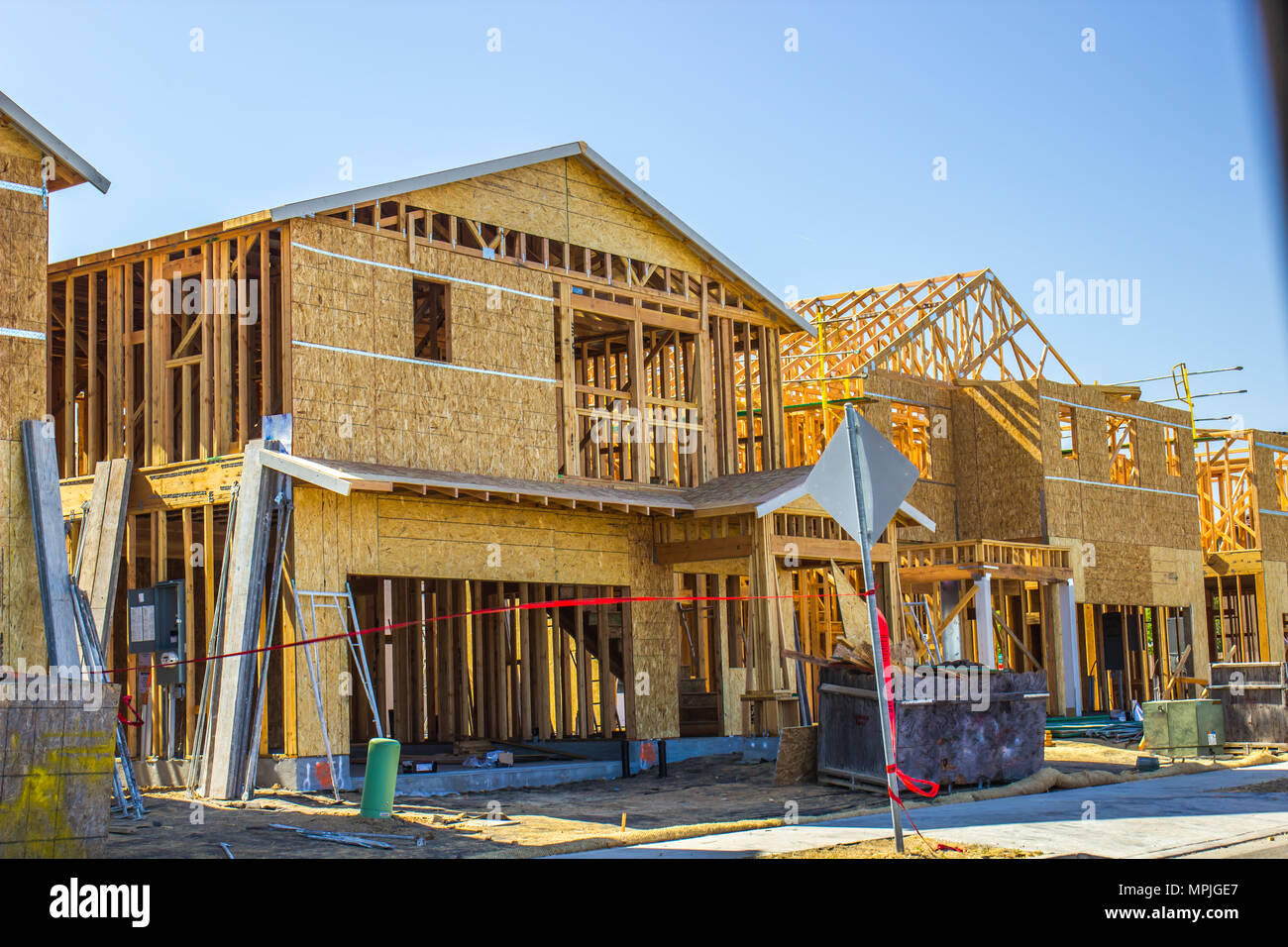 Neue Home Bau Framing & Sperrholz Stockfoto, Bild: 186034191 - Alamy