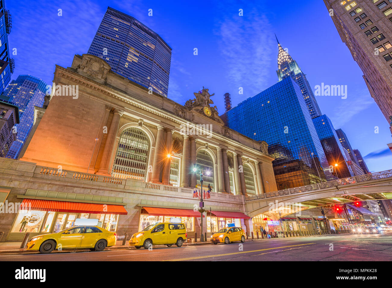 New York, New York, USA am Grand Central Terminal in Midtown Manhattan am Morgen. Stockbild