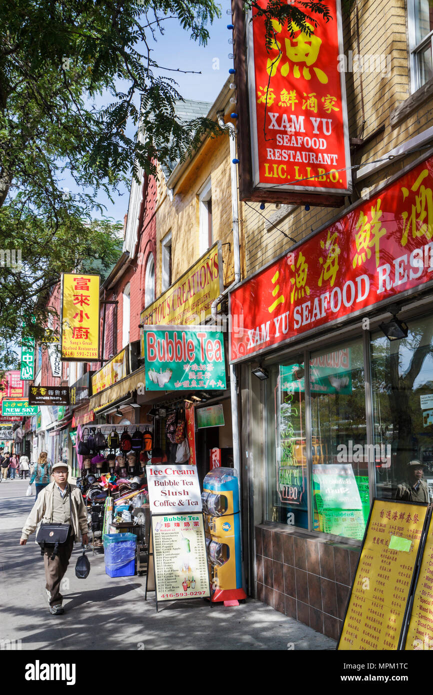 Toronto Kanada Ontario Spadina Avenue Chinatown ethnische ...