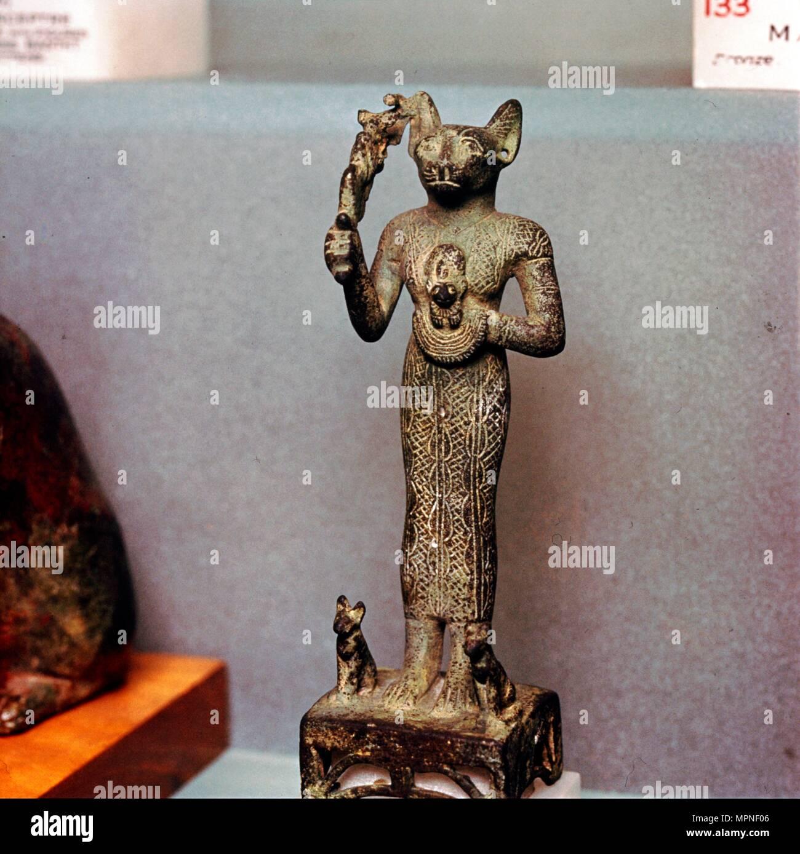 Ägyptische Göttin Bastet stehend 8cm