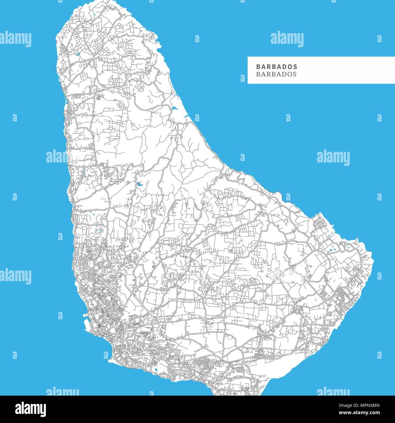 Karte Island Drucken.Barbados Drucken Karte Stockfotos Barbados Drucken Karte