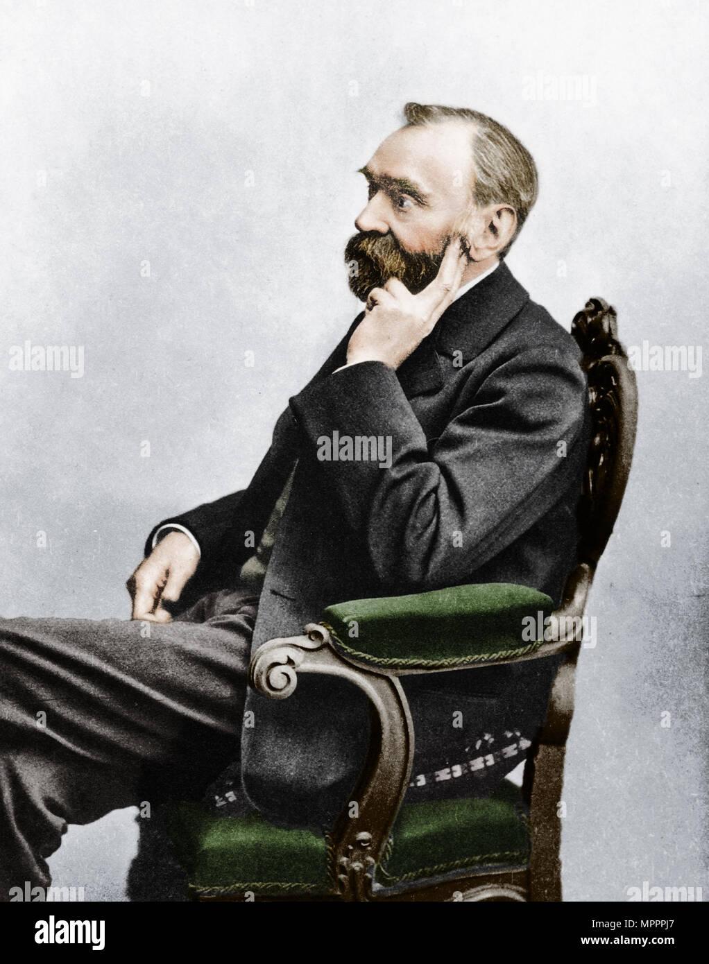 Alfred Bernhard Nobel, c 1880. Artist: Unbekannt. Stockbild