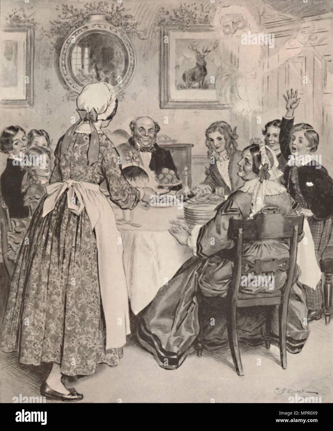 lass mich nachdenken der komfortablen familie abendessen 1862 1923 k nstler charles. Black Bedroom Furniture Sets. Home Design Ideas