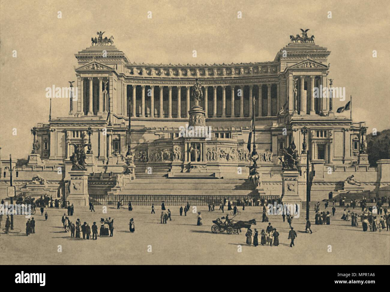 """Roma - Piazza di Venezia. Victor Emmanuel Denkmal II"", 1910. Artist: Unbekannt. Stockbild"