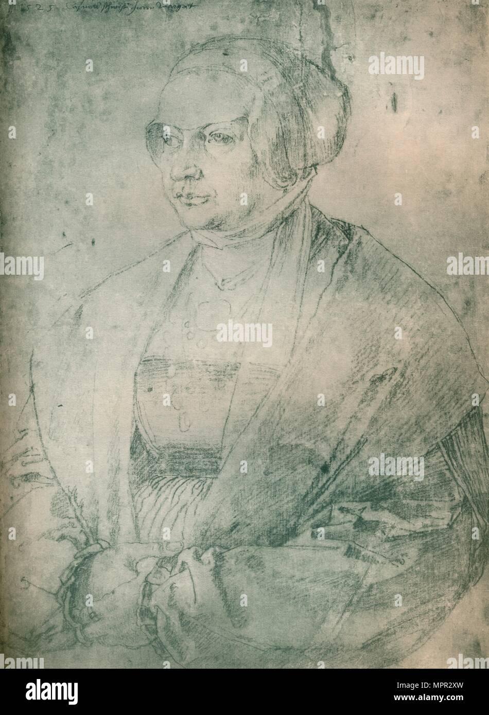"""""""Bildnis einer Dame', c 1500-1520, (1903). Künstler: Albrecht Dürer. Stockbild"""