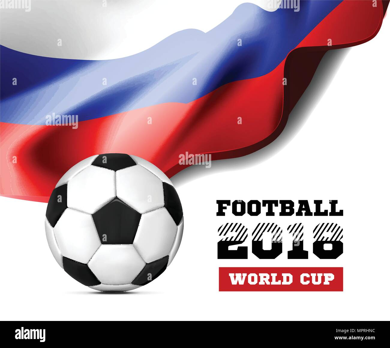 Fussball Wm 2018 Hintergrund Fussball Russland Mit Flagge Und