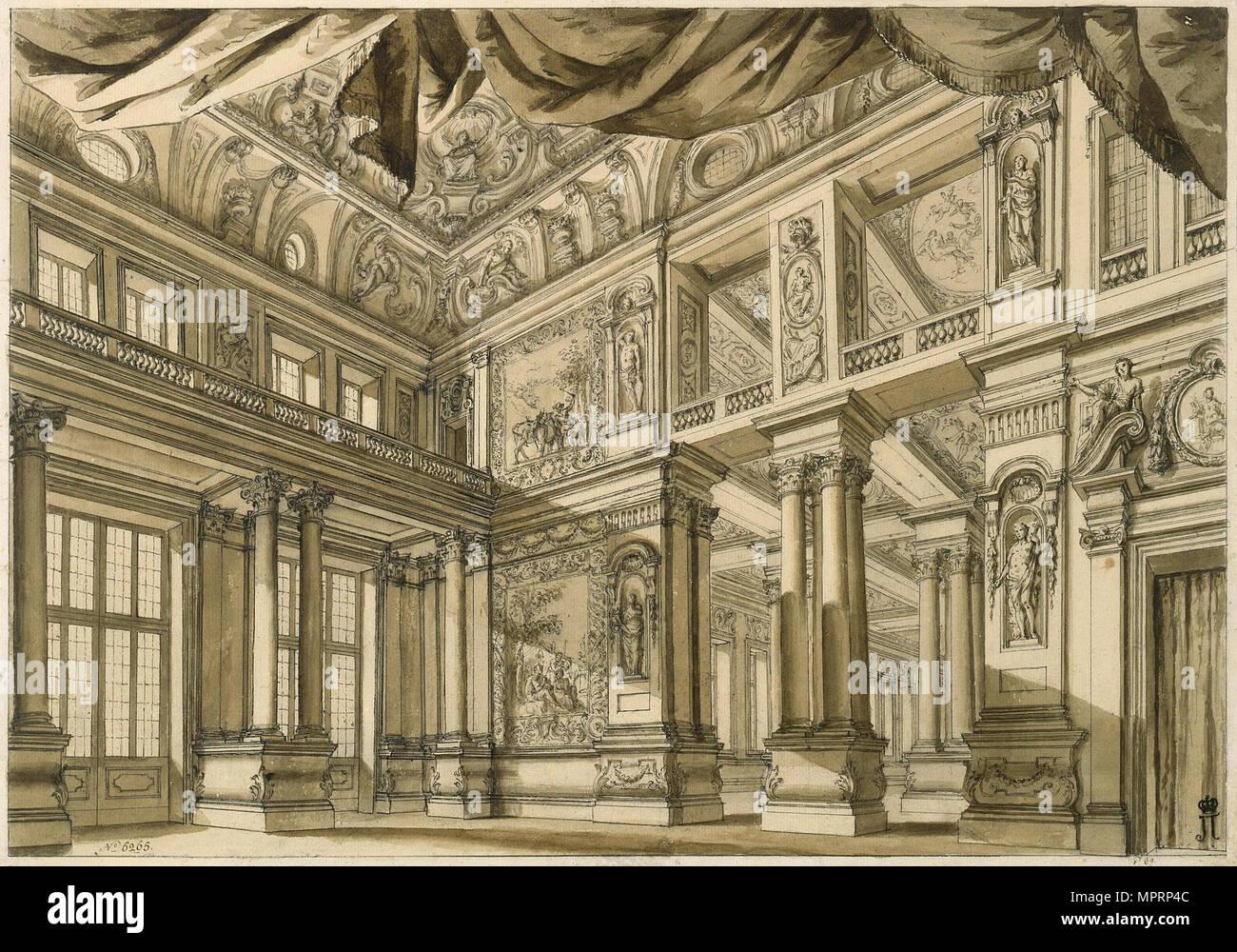 Bühnenbild für die Oper Scipione (Scipio) von Georg Friedrich Händel, 18. Stockbild