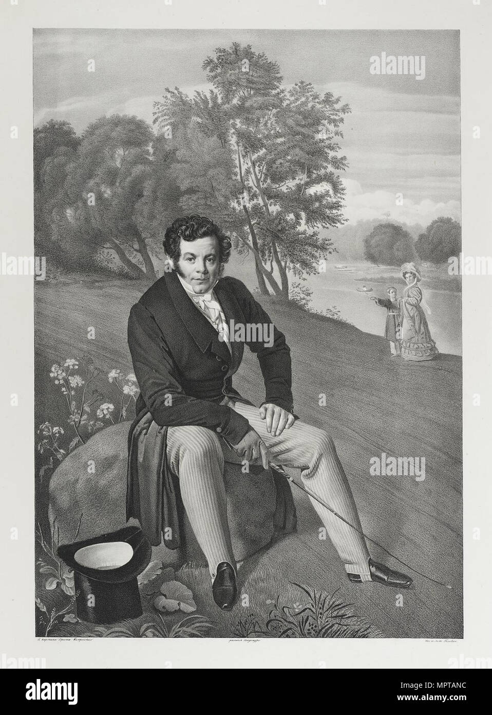 Porträt von Karl Iwanowitsch Albrecht (1789-1859). Stockbild