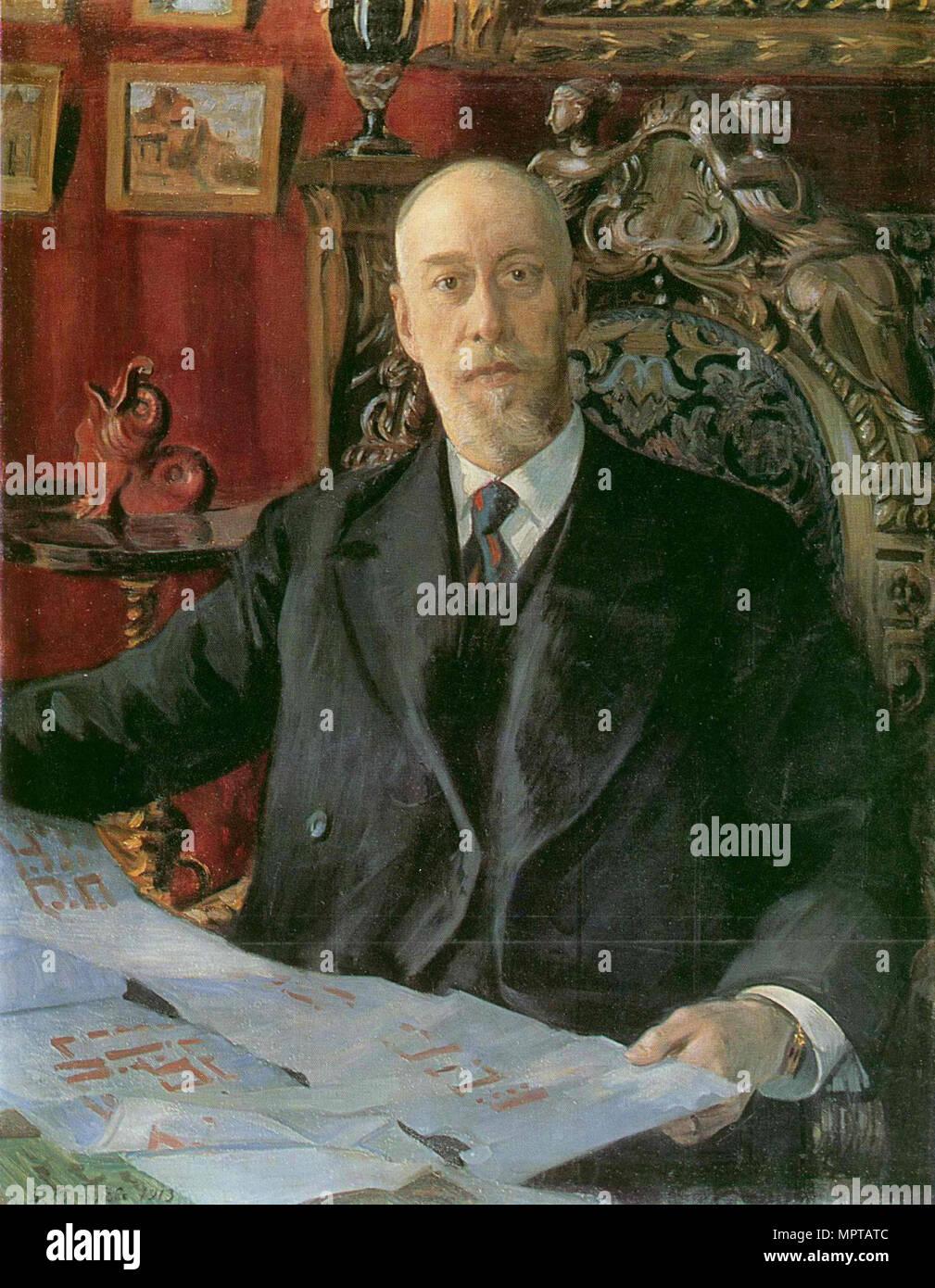 Portrait von Nikolai Karlovich von Meck (1863-1929). Stockbild