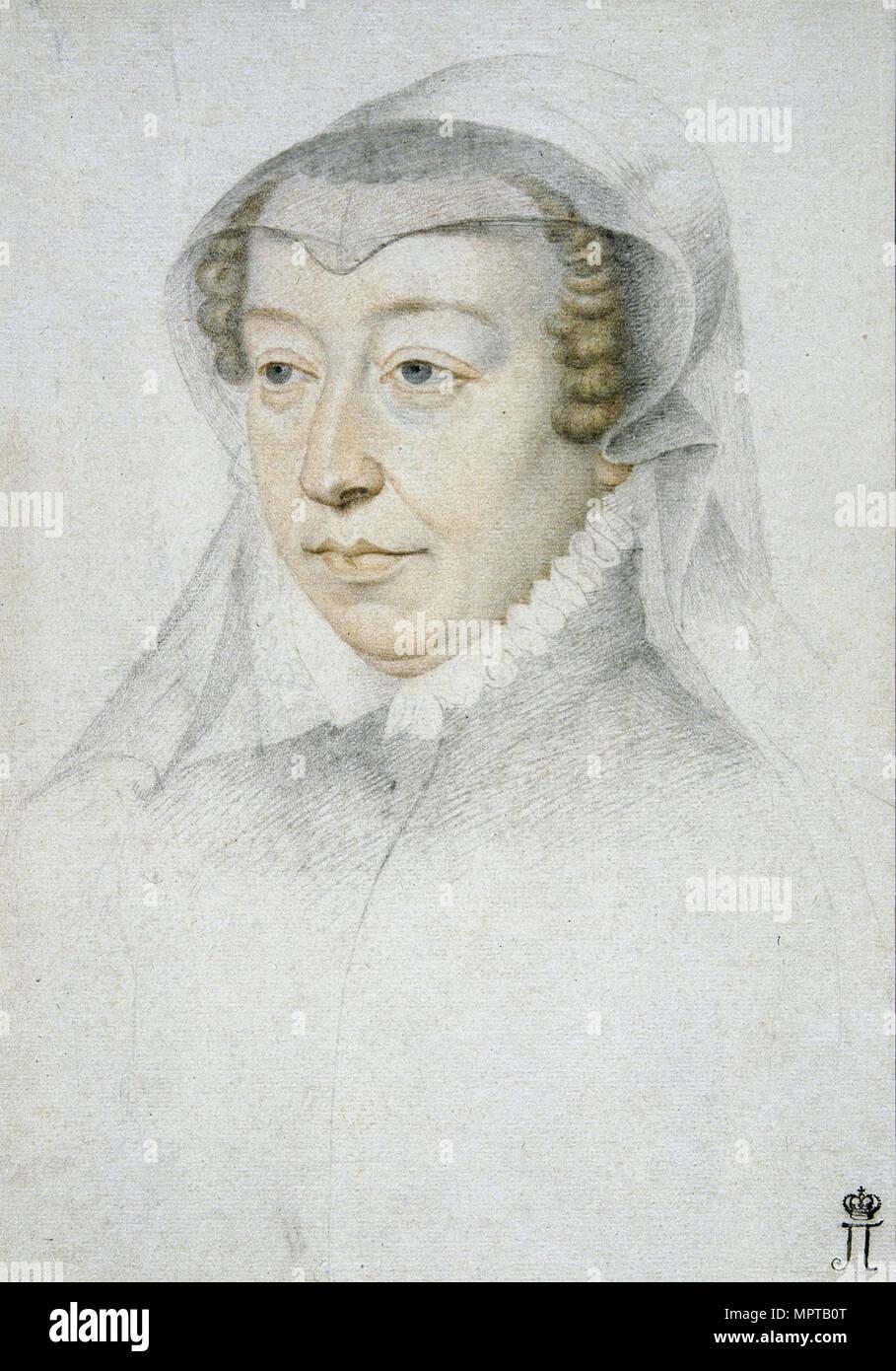 Portrait von Katharina de' Medici (1519-1589). Stockfoto