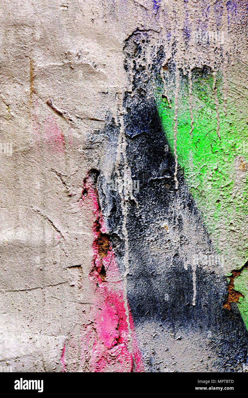 Schön Farbe Auf Wand   Rot, Schwarz Und Grün, Die Farben Von Palästina Flagge.  Zusammenfassung Hintergrund