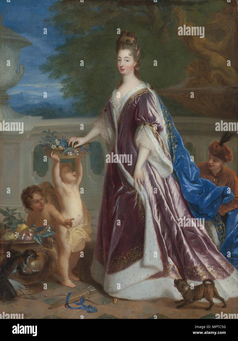 Portrait von Elisabeth Charlotte, Prinzessin von der Pfalz (1652-1722). Stockbild
