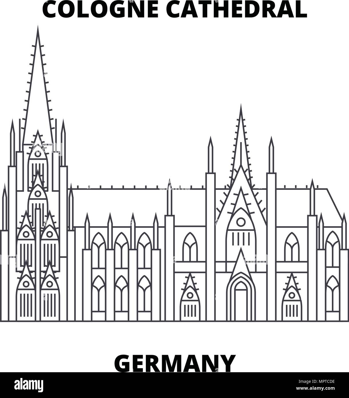 Kolner Dom Deutschland Symbol Leitung Konzept Kolner Dom Deutschland Linearvektor Zeichen Symbol Abbildung Stock Vektorgrafik Alamy