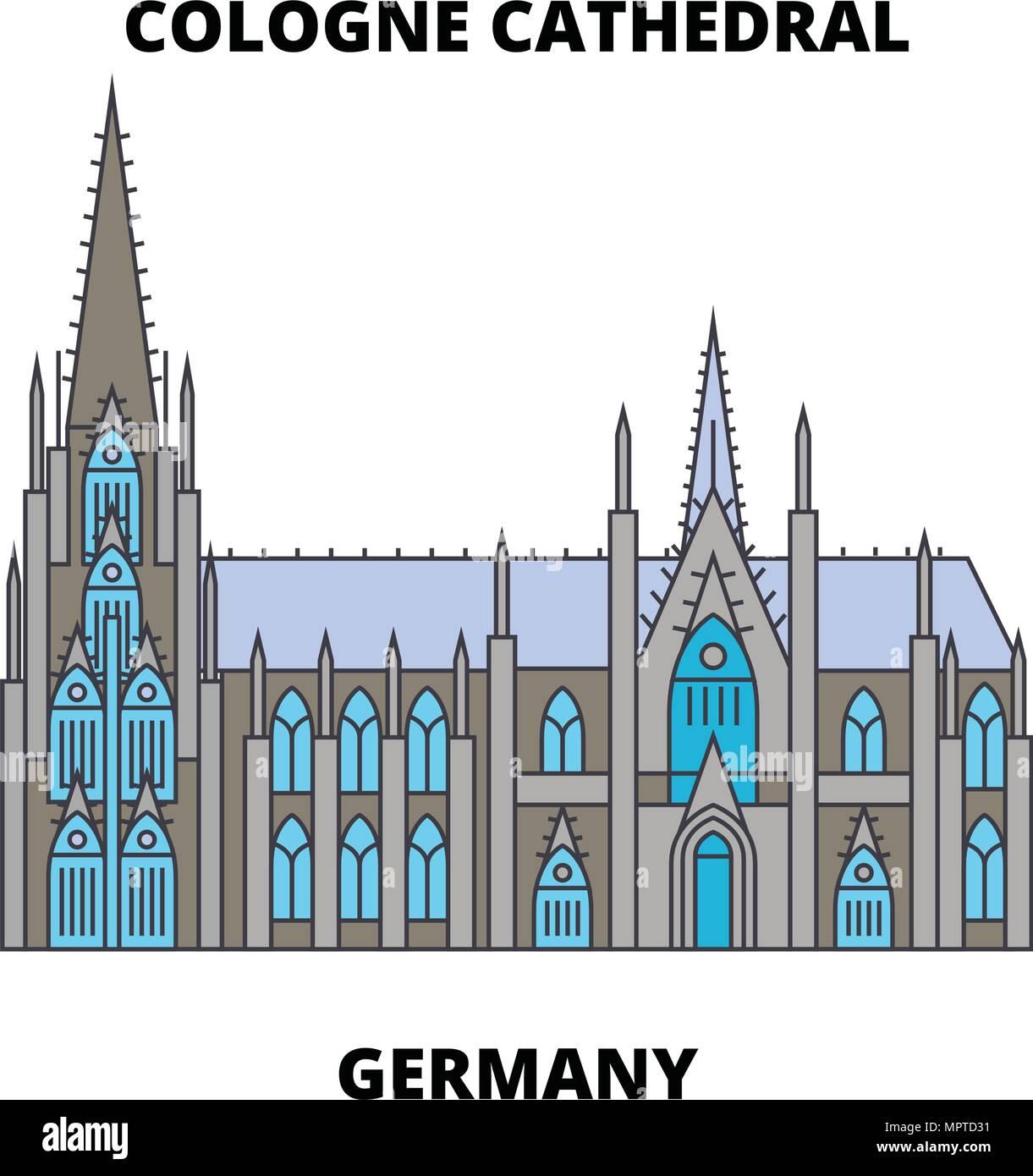 Kolner Dom Deutschland Symbol Leitung Konzept Der Kolner Dom Deutschland Wohnung Vektor Zeichen Symbol Abbildung Stock Vektorgrafik Alamy