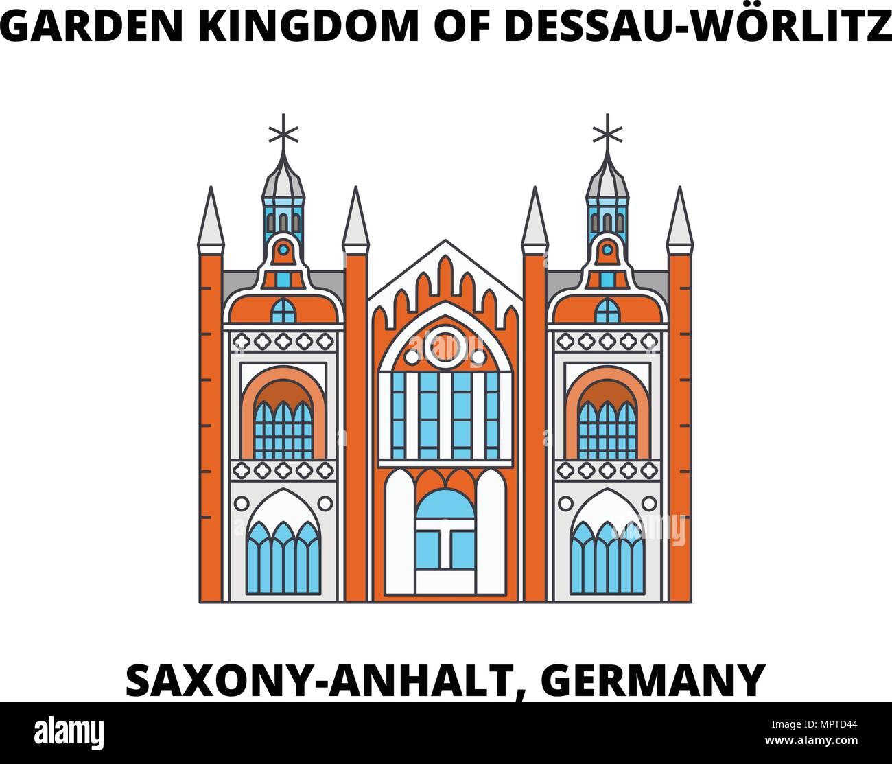 Dessau Wörlitz Garden Realm Stockfotos & Dessau Wörlitz