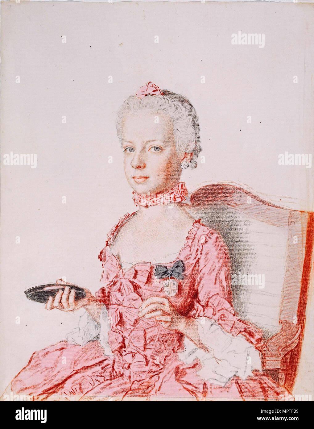 Marie Antoinette, Erzherzogin von Österreich, 1762. Stockfoto