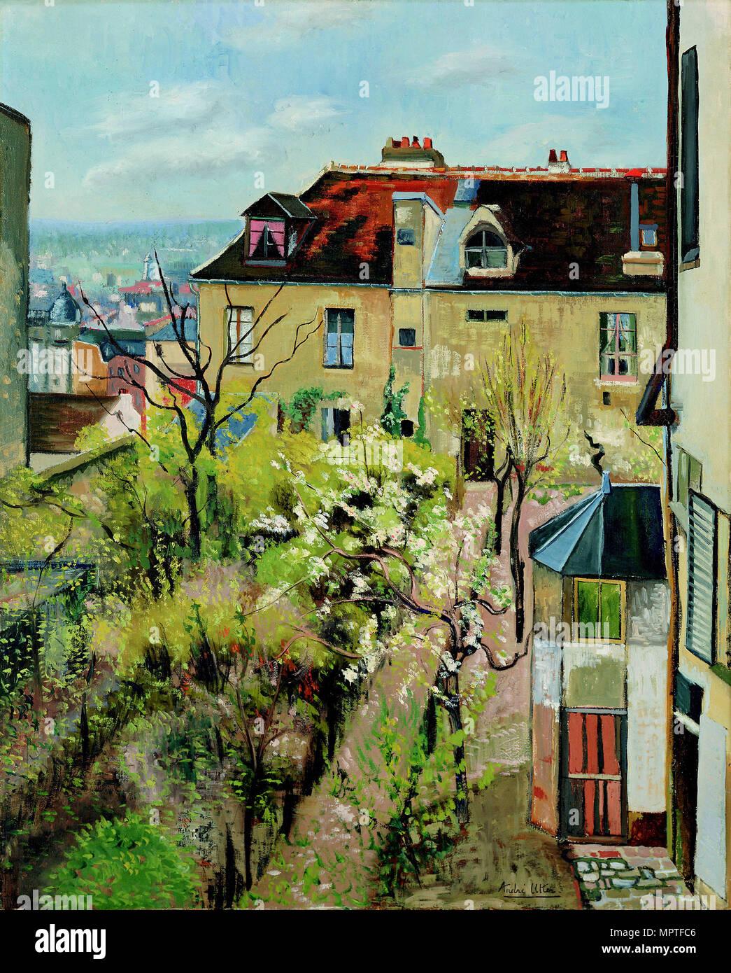 Jardin de la Maison d\'Utrillo, 1913 Stockfoto, Bild: 186165062 - Alamy