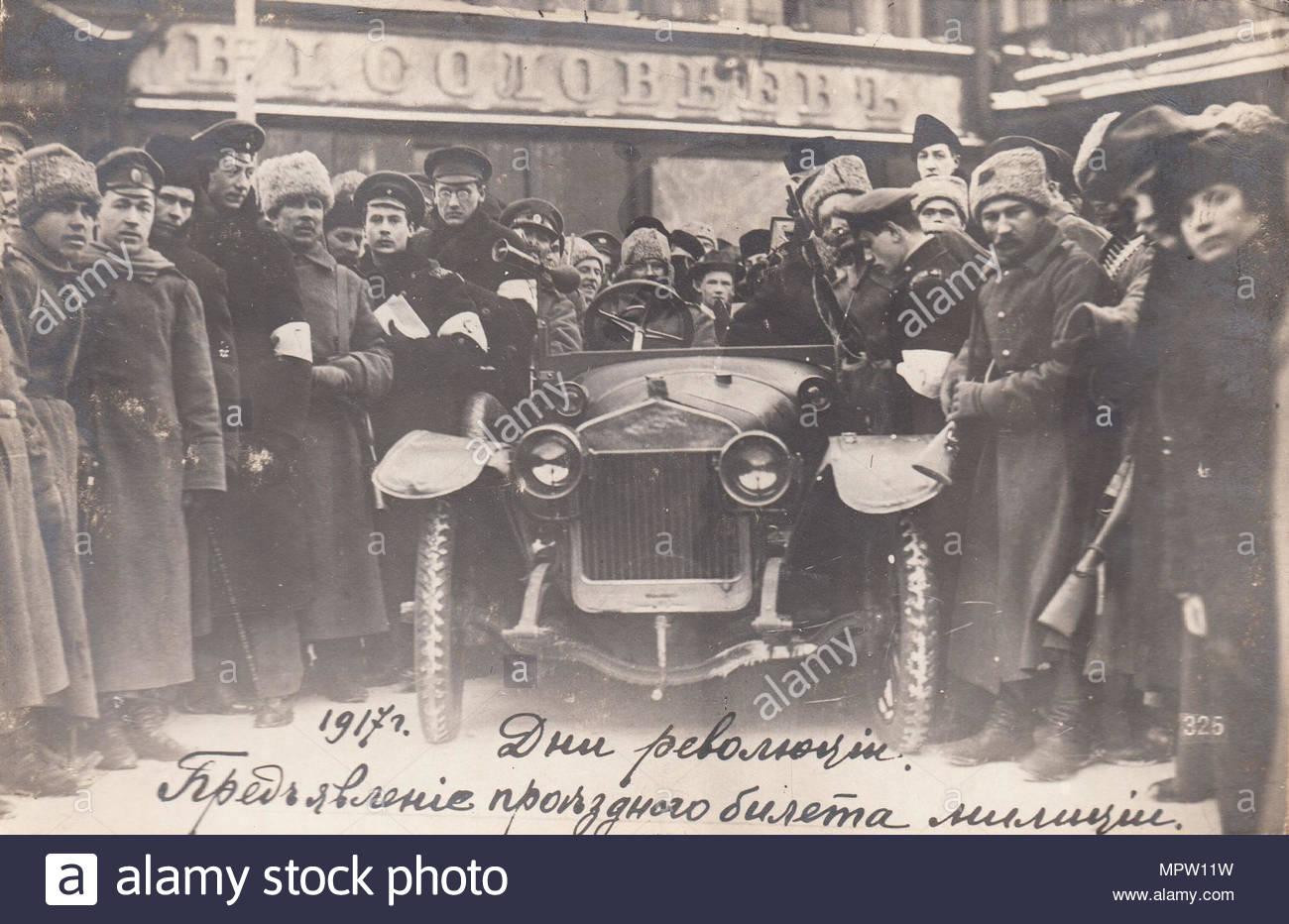 Die Tage der Revolution., 1917. Stockbild